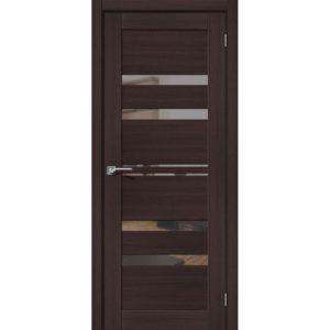 Межкомнатная дверь Порта-30 (Wenge Veralinga, остеклённая, с зеркалом)