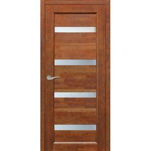 Межкомнатная дверь Старая Артель Квадро (орех золотистый, остеклённая)