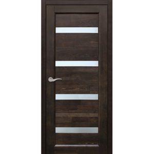 Межкомнатная дверь Старая Артель Квадро (венге, остеклённая)