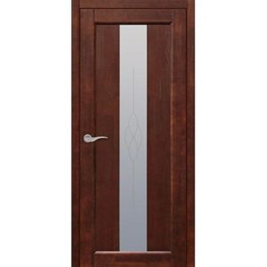 Межкомнатная дверь Старая Артель Соната (орех темный, остеклённая)