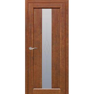 Межкомнатная дверь Старая Артель Соната (орех золотистый, остеклённая)
