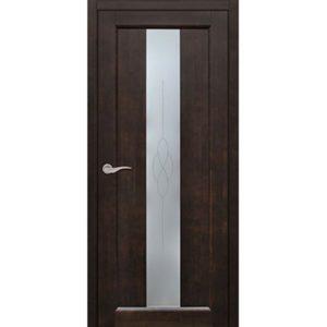 Межкомнатная дверь Старая Артель Соната (венге, остеклённая)