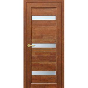 Межкомнатная дверь Старая Артель Триумф (орех золотистый, остеклённая)