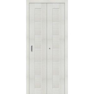Складная межкомнатная дверь Порта-21 (Bianco Veralinga, глухая)
