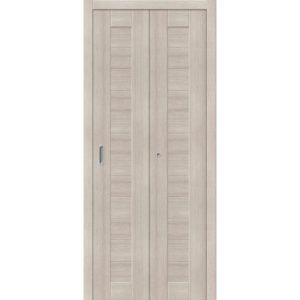Складная межкомнатная дверь Порта-21 (Cappuccino Veralinga, глухая)