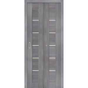 Складная межкомнатная дверь Порта-22 (Grey Veralinga, остеклённая)