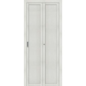 Складная межкомнатная дверь Твигги-M1 (Bianco Veralinga, глухая)