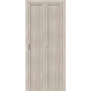 Складная межкомнатная дверь Твигги-M1 (Cappuccino Veralinga, глухая)