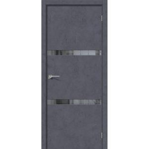 Межкомнатная дверь Порта-55 4AF (Graphite Art, остеклённая)