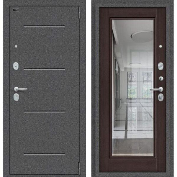Входная дверь Porta S 104.П61 (антик серебро, wenge veralinga)