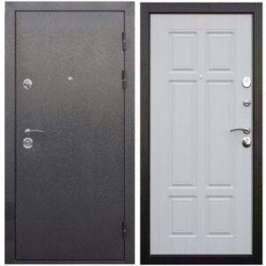 Входная дверь Аляска (серебро, сосна белая)