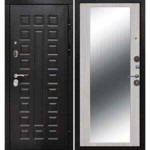 Входная дверь Монарх (10 см, зеркало, белый ясень)
