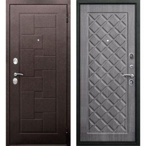 Входная дверь Палермо (медный антик, венге тобакко)
