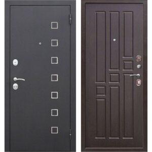 Входная дверь Турин (чёрный муар, венге)