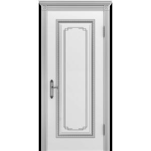 Межкомнатная дверь Safina А-11/3 (Дуэт) (Белая эмаль, патина серебро)