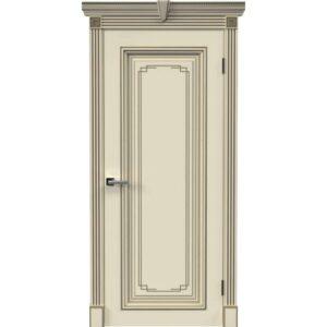 Межкомнатная дверь Safina А-11/3 (Дуэт) (Слоновая кость, патина золото)