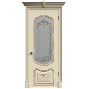 Межкомнатная дверь Safina A-6 (Слоновая кость, остеклённая)