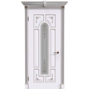 Межкомнатная дверь Safina Готика 2/1 (Белая эмаль, остеклённая)