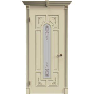 Межкомнатная дверь Safina Готика 2/1 (Слоновая кость, остеклённая)