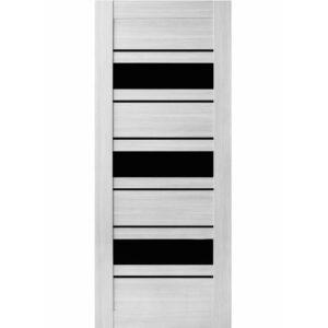 Межкомнатная дверь Аврора A-1 (Эшвайт, остеклённая)
