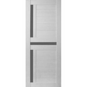 Межкомнатная дверь Аврора A-13 (Эшвайт, остеклённая)