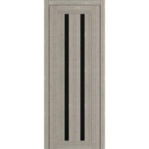 Межкомнатная дверь Аврора D-12 (Белёный дуб, остеклённая)