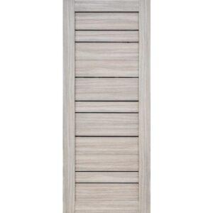 Межкомнатная дверь Аврора D-18 (Белёный дуб, остеклённая)