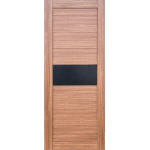 Межкомнатная дверь Аврора D-19 (Орех, остеклённая)