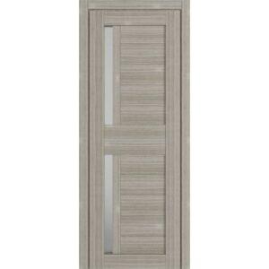 Межкомнатная дверь Аврора D-5 (Белёный дуб, остеклённая)