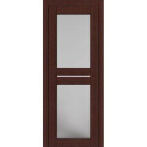 Межкомнатная дверь Аврора D-6 (Орех, остеклённая)