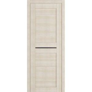 Межкомнатная дверь Аврора D-7 (Белёный дуб, остеклённая)