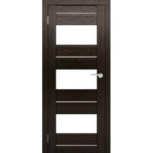 Межкомнатная дверь Аврора S-3/4 (Венге, остеклённая)