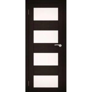 Межкомнатная дверь Аврора S-4 (Венге, остеклённая)