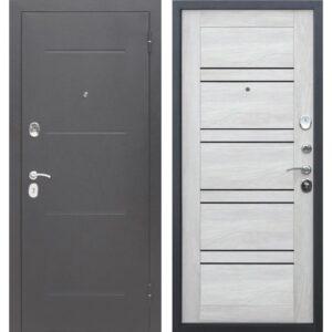 Входная дверь Гарда (7,5 см, серебро, шале белый)