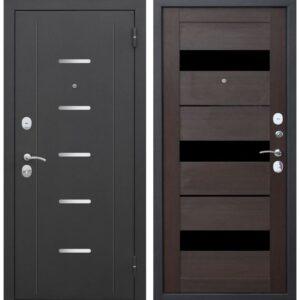 Входная дверь Гарда (муар, 7,5 см, тёмный кипарис, электронный замок)