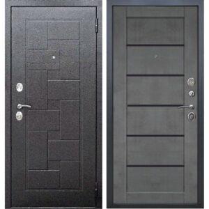 Входная дверь Гарда (серебро, бетон серый)
