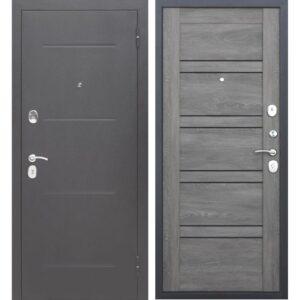 Входная дверь Гарда (7,5 см, серебро, шале графит)