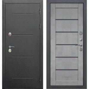 Входная дверь Isoterma (букле черный, бетон серый)