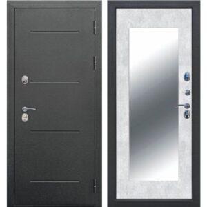 Входная дверь Isoterma (maxi, букле черный, бетон снежный)
