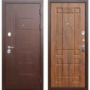 Входная дверь Троя (медный антик, грецкий орех)