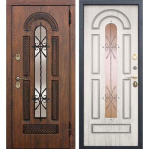 Входная дверь Vikont (грецкий орех, сосна белая)