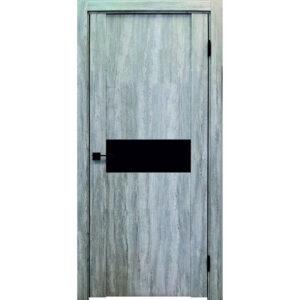 Межкомнатная дверь Аврора Edge Эдж 1 (Эшвайт, остеклённая)
