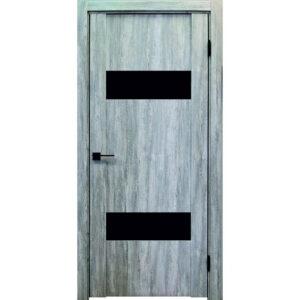Межкомнатная дверь Аврора Edge Эдж 2 (Эшвайт, остеклённая)