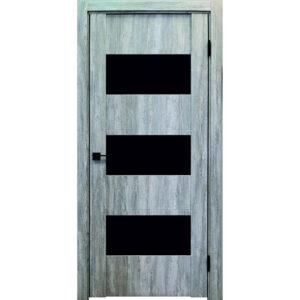 Межкомнатная дверь Аврора Edge Эдж 3 (Эшвайт, остеклённая)