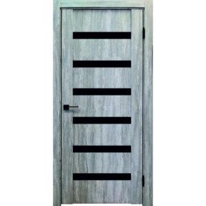 Межкомнатная дверь Аврора Edge Эдж 4 (Эшвайт, остеклённая)