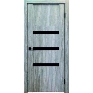 Межкомнатная дверь Аврора Edge Эдж 5 (Эшвайт, остеклённая)