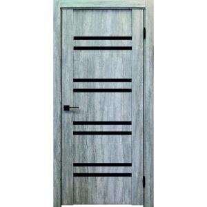 Межкомнатная дверь Аврора Edge Эдж 6 (Эшвайт, остеклённая)
