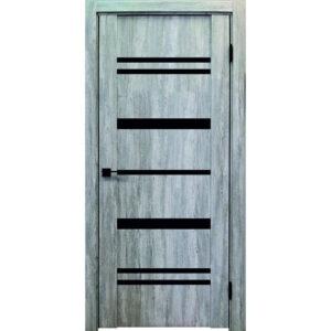 Межкомнатная дверь Аврора Edge Эдж 7 (Эшвайт, остеклённая)
