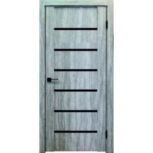 Межкомнатная дверь Аврора Edge Эдж 8 (Эшвайт, остеклённая)