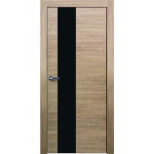 Межкомнатная дверь Аврора Twist T-10 (Беленый дуб, остеклённая)